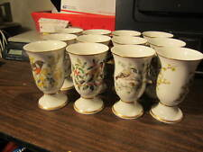 Franklin Mint Songbirds of Europe Cups, Set of 12