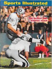 1st GEORGE BLANDA Sports Illustrated 1970 OAKLAND RAIDERS Kentucky Alum NO LABEL