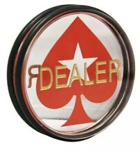3-Inch Double-Sided Casino Grade Dealer Spade Puck Button For Poker Games 2 Pack