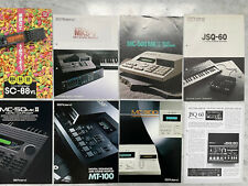 Vintage Roland MC 500 MKII 300 MKS-7 Sequencer Synthesizer Catalog Brochure Lot