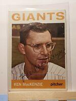 1964 TOPPS Autograph #297 KEN MacKENZIE