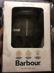 Barbour Tartan Bamboo Coffee Cup Travel Mug Reusable Eco Thermos NEW SEALED