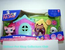 Littlest Pet Shop INTL Bobblin' Barn SHEPHERD #375 LAMB #376 PIG #377 RARE NIB