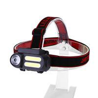 USB Rechargeable COB LED Headlamp Headlight Head Light Torch Flashlight 4 Modes