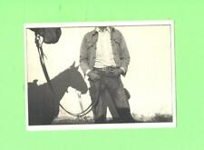 PP POSTCARD COWBOY AND HORSE SHADOW AT RANCH ALPINE TEXAS