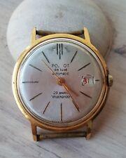 Vintage Poljot de luxe Automation 29 jewels gold plated au 20