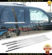 For 2007-2014 Chevy Tahoe Suburban Avalanche Chrome Window Sill Trim Moldings