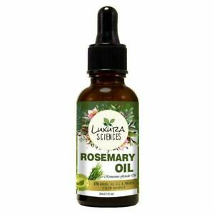 Organic Rosemary Essential Oil For Hair Growth, Aromatherapy 100% Pure 15 ML
