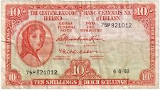 More details for 1968 | ireland lady lavery 10/- ten shillings banknote | banknotes | km coins