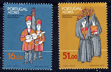 AZORES PORTUGAL 1984 Traditional Costumes Set SG 452 & SG 453 MINT