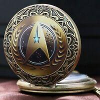 Handmade Star Trek Captain Kirk Quartz Pocket Watches Girl Woman  Men GIFT