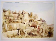 Vernon Wethered (1865–1952) landscape watercolour, Landscape, continental?