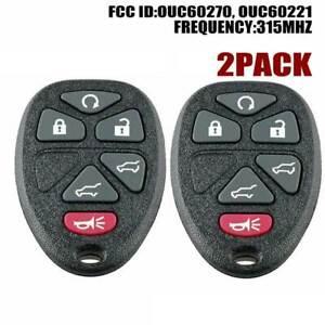 2 for 2007-2014 GMC Yukon XL 1500 2500 Keyless Entry Remote Car Key Fob 15913427