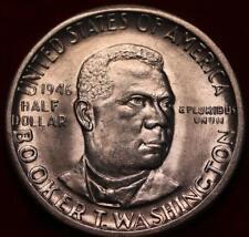 Uncirculated 1946-D Denver Mint Booker T Washington Silver Comm Half