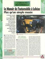 le Manoir de l'Automobile à Lohéac musée collection Bretagne Car FICHE FRANCE