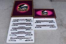 MTH Amtrak Aluminum 7 Passenger Car Set Baggage, Coach,Sleeper,Diner,Observation