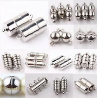 10 Pcs Metal Stainless Steel Brass Strong Magnetic Clasps DIY Jewellery Making