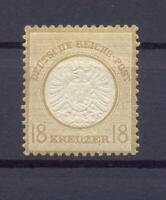 DR 28 I Brustschild 18 Kreuzer Plattenfehler I ungebraucht Befund Krug (vs150)