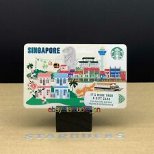 Starbucks card 2020 Singapore City Country Nostalgia Paper Gift Card Pin Intact