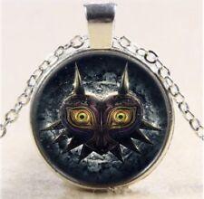 The Legend Of Zelda Majora's Mask Cabochon Necklace Silver US Seller