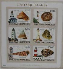 Shells and Lighthouses Marine Life Comoros Comores m/s Sc.1083 #CM9106a IMPERF