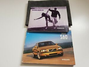 GENUINE VOLVO S60 2001 OWNERS MANUAL AND STAMPED SERVICE HISTORY 195K