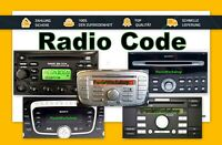 FORD Radio Code - Ford  V Serie M Serie CD132 Nav M und mehr ... Key Code