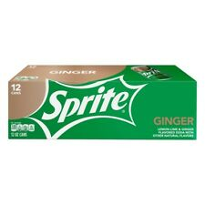 Sprite Ginger Soda, 12 pack, 12 oz cans Pop Soft Drink