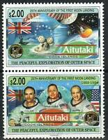Aitutaki Stamp - First Manned Moon Landing, 25th anniversary Stamp - NH