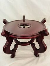 Oriental Furniture Rosewood Fishbowl Planter Stand 8.5�x6.5� Preowned