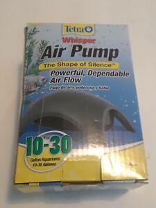 Tetra Whisper Air Pump, For Aquariums, Quiet, Powerful Airflow, 10-30 GAL New
