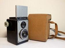 Rare midcentury bakelite TLR camera Druopta RIX 6x6 film & case Fokar shutter