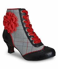 Ladies Womens Ankle Boots Lace Up Zip Low Heel Couture Shoes Size