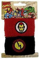 Iron Man Marvel Comics Wrist Bands Sweat Bands Hero Ironman Pony tail holders