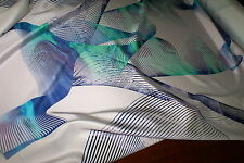 'DION MIU MARBLE' Graphic Print Med-Weight Stretch Silk Blend Sateen Fabric .95m