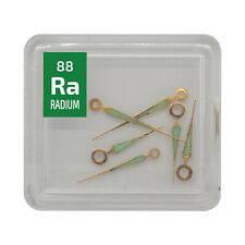 6 x Radium watch hands check source Ra Element Sample in Periodic Element Tile