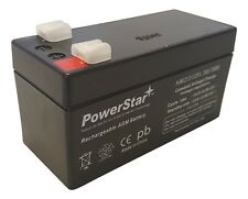 12V 1.3Ah SLA Battery Rechargeable AGM replaces UB1213, D5738 -2 Year Warranty
