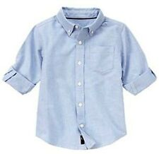 Gymboree Spy Guy Pinpoint Oxford Button-Down Collar Dress / Casual Shirt S (5-6)