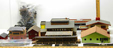 Vintage HO Railroad Balsa Wood MCM Buildings Lot+Bridges+Trestles+Car Bodies