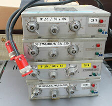 LOT DE 4 EMETTEURS PORTABLE THOMSON CSF TYPE 743 PP DE RADIOCOMMUNICATION
