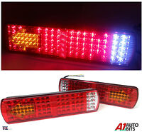 PAIR 12V LED REAR TAIL LIGHTS LAMP 5 FUNCTION TRAILER CARAVAN TRUCK LORRY 84 LED