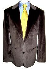 """HUGO BOSS silky velvet striped blazer jacket coat 44"""" excellent"""