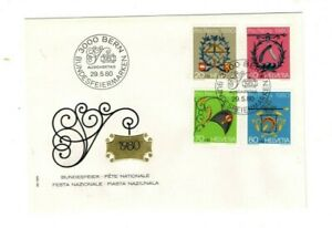 1980 SWITZERLAND - PRO PATRIA : ARTISAN SIGNS FDC FROM COLLECTION K22