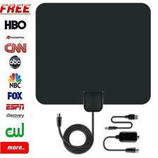 Best Indoor HD TV Antenna High Definition 50 Mile Range w/ Detachable Ampli