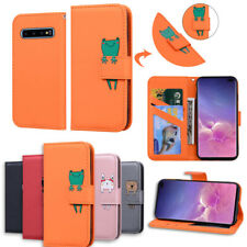 Leather Flip Card Walet Phone Case Cover For Samsung Galaxy S7 S8 S9 S10 A10 A20