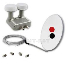Digital SAT Spiegel 80+Monoblock Twin LNB 0,2 dB RAI 1