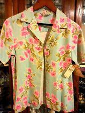 Tommy Bahama FAB New NWT women top shirt blouse Hawaiian Sea Mist XS Pink Aqua 2