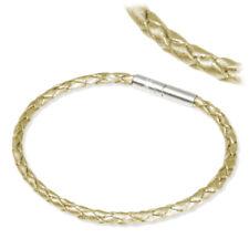 Imppac Leder Armband Geflochten Perlmutt einfach SMLA4118