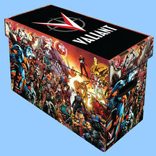 BCW: Illustrated Short Comic Boxes w/Lids: VALIANT HEROES 10 boxes/CASE-LOT