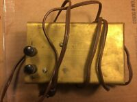 """Vintage 1960s Brass Chassis 5.25""""x3.25""""x2.375"""" for Tube Guitar Amplifier Project"""